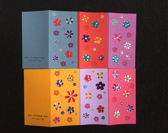 Six Card Flowers Pack #2