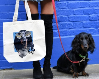 Custom pet portrait tote bag, custom pet portrait, pet portrait, dog art, custom tote bag, canvas bag, gift for pet owners, tote bag