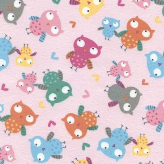 owl home decor fabric owls pink fabric quilting crafting home decor from 11687