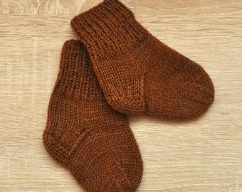 Children's brown socks