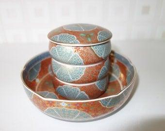 Japanese set of stackable bowls Kozangama