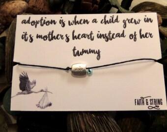New Baby Adoption Gift Bracelet
