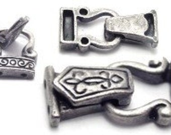 Pewter Victorian Fold Over Magnetic Magnet Clasps2935pwt