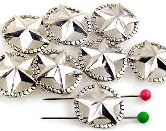 8 Western Theme 2 Hole Beads 10756