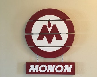 Monon Railway Sign - Wood Reproduction
