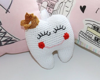 Crochet Tooth Fairy Pillow/ Tooth Fairy Pouch/ Amigurumi Toy/ Tooth Pillow/ Tooth Pocket/ Crochet Tooth
