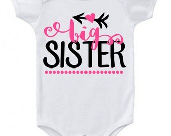 Big Sister Onesie for Baby Girl