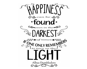 Albus Dumbledore Happiness Quote from Harry Potter