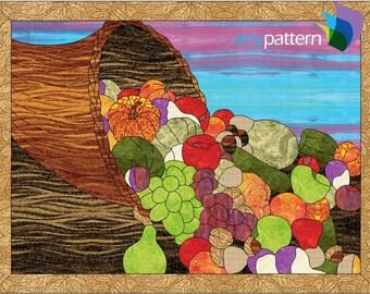 Cornucopia Applique Quilt Pattern