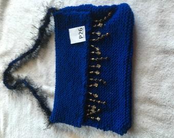 black and blue purse P26