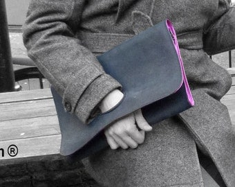 Bespoke Upcycled Leather Clutch