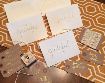 Calligraphy Card - Blank Inside SET OF 5