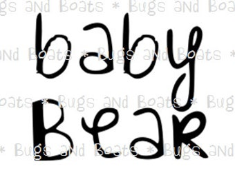 Baby Bear SVG and DXF files