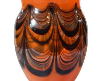 Hand Blown Art Glass Vase by Harvey Boyer Signed