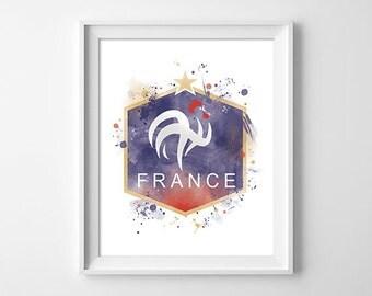 Football, club, France, illustration, art, artistic, blue white red