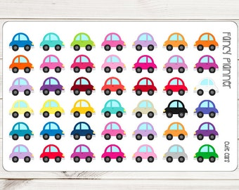 Cute Cars || 42 Planner Stickers
