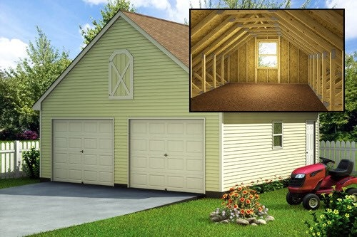 Build a 24 39 x 24 39 garage with loft diy plans fun to for Building a loft in a garage