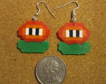 Mario Fire Flower Earrings Perler