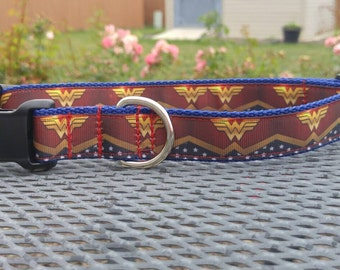 Wonder Woman inspired dog collar