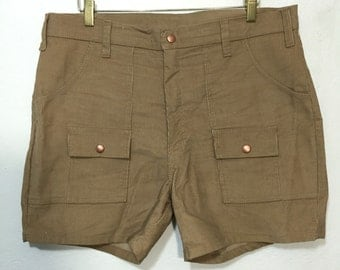70's vintage deadstock bush shorts pants corduroy size w36
