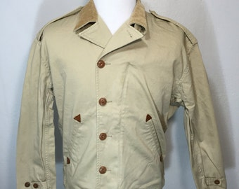 polo ralph lauren cotton twill military jacket mens size large