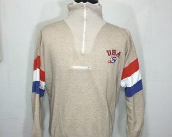 80's half zip pullove K2 sweatshirt heather color size XL