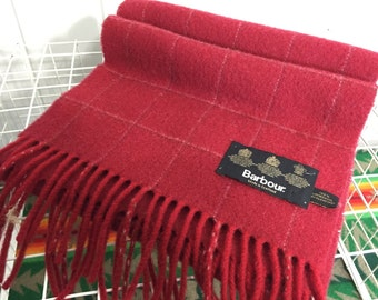 barbour lambswool plaid muffler shawl wrap made in scotland
