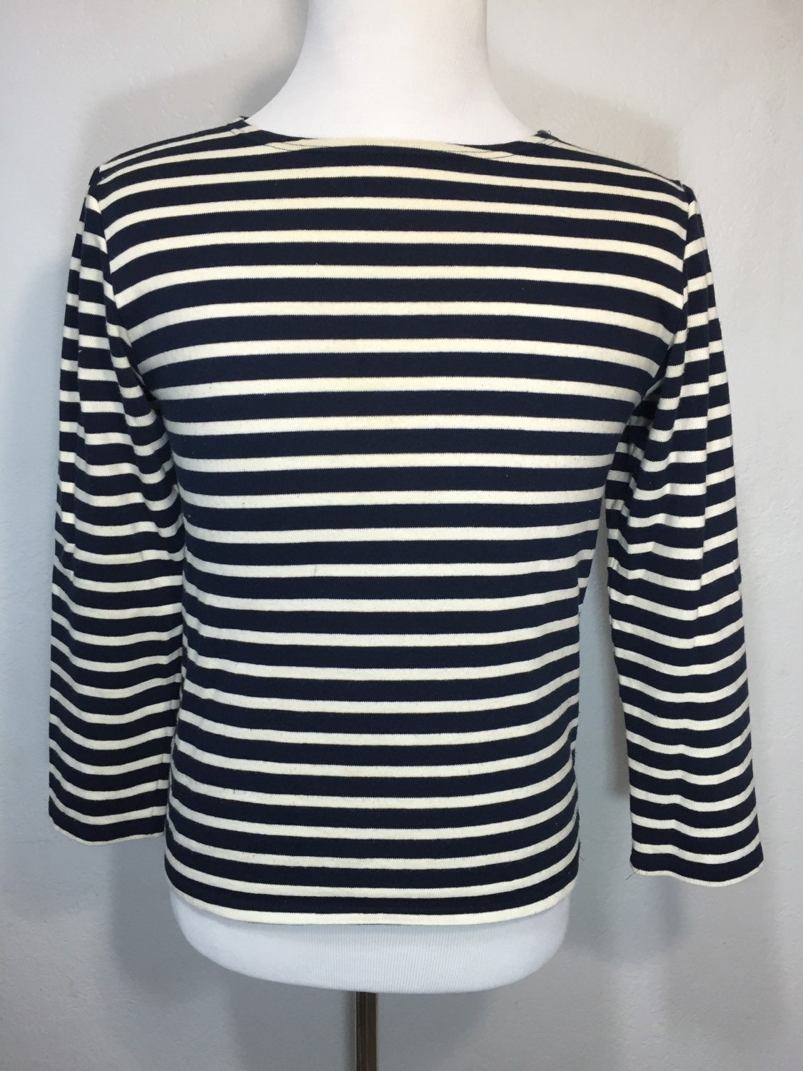 Saint james striped 4 3 sleeve shirt boat neck made in france for St james striped shirt