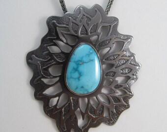 Emanations Turquoise & Copper Pendant