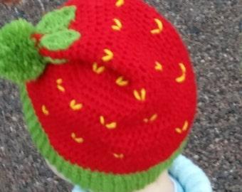 Hat handmade Strawberry