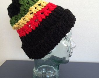 Crochet Rasta Beanie Hat