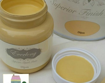 Everlong Chalk Paint Shabby Chic Furniture Dijon Yellow 100ml Tester