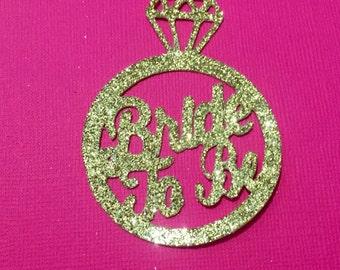 Bridal shower decorations , bridal shower confetti, bride to be, engagement ring confetti, bride confetti, bridal shower