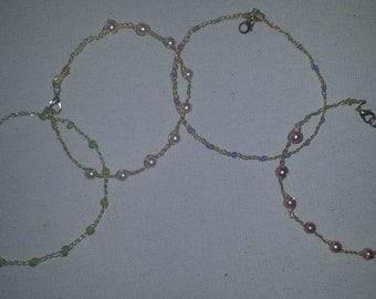Stackable Pearl & Bead Bangles