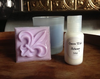 Floral Candle, Soap, & Lotion Gift Set
