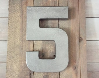 Rustic Family Number Sign