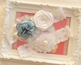 Bridal garter set Wedding garter set Keepsake Garter Toss Garter