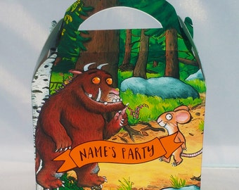 Gruffalo Theme Personalised Children's Party Box Gift Bag Favour