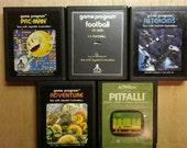 5 vintage Atari games