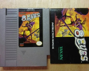 8 Eyes With Original Instructions Nintendo Nes Game