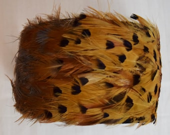 Vintage 1950s Pheasant Feather Wide Headband Hat