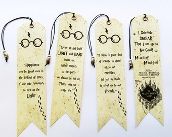 Bookmarks with Owl bead Set of 4 pieces Bookmarks quotes Gift Unique handmade bookmarks