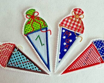 Embroidery, abacuses 13 x 18 application set of 2