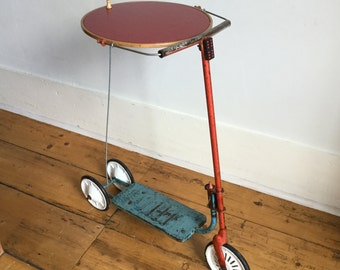 Vintage Scooter Round Side Table