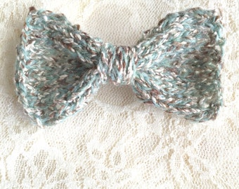 Hand Knitted Hair Bow