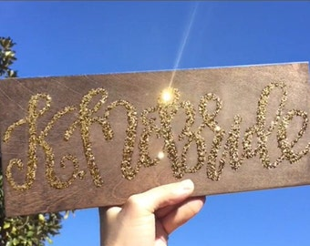 Glitter Wood Sign / Custom Wood Sign / Personalized Wood Sign