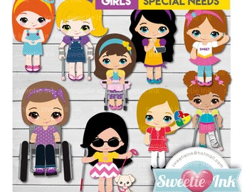 Girls Clipart Kawaii Special Needs