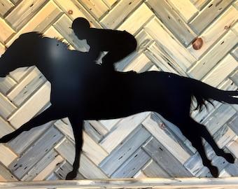 "Big Race Horse Silhouette 26""X43"""