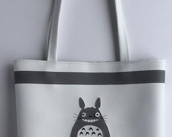 Totoro vinyl tote bag
