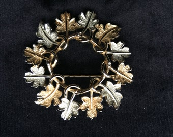 Sarah Coventry autumn leaves brooch